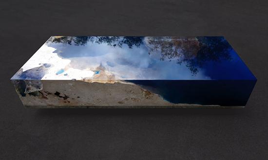 contoh meja inspiratif super keren dengan bahan epoxy dan batu marmer