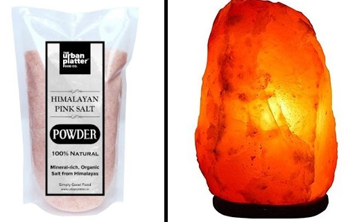 rock salt lamp to eliminate negative energy