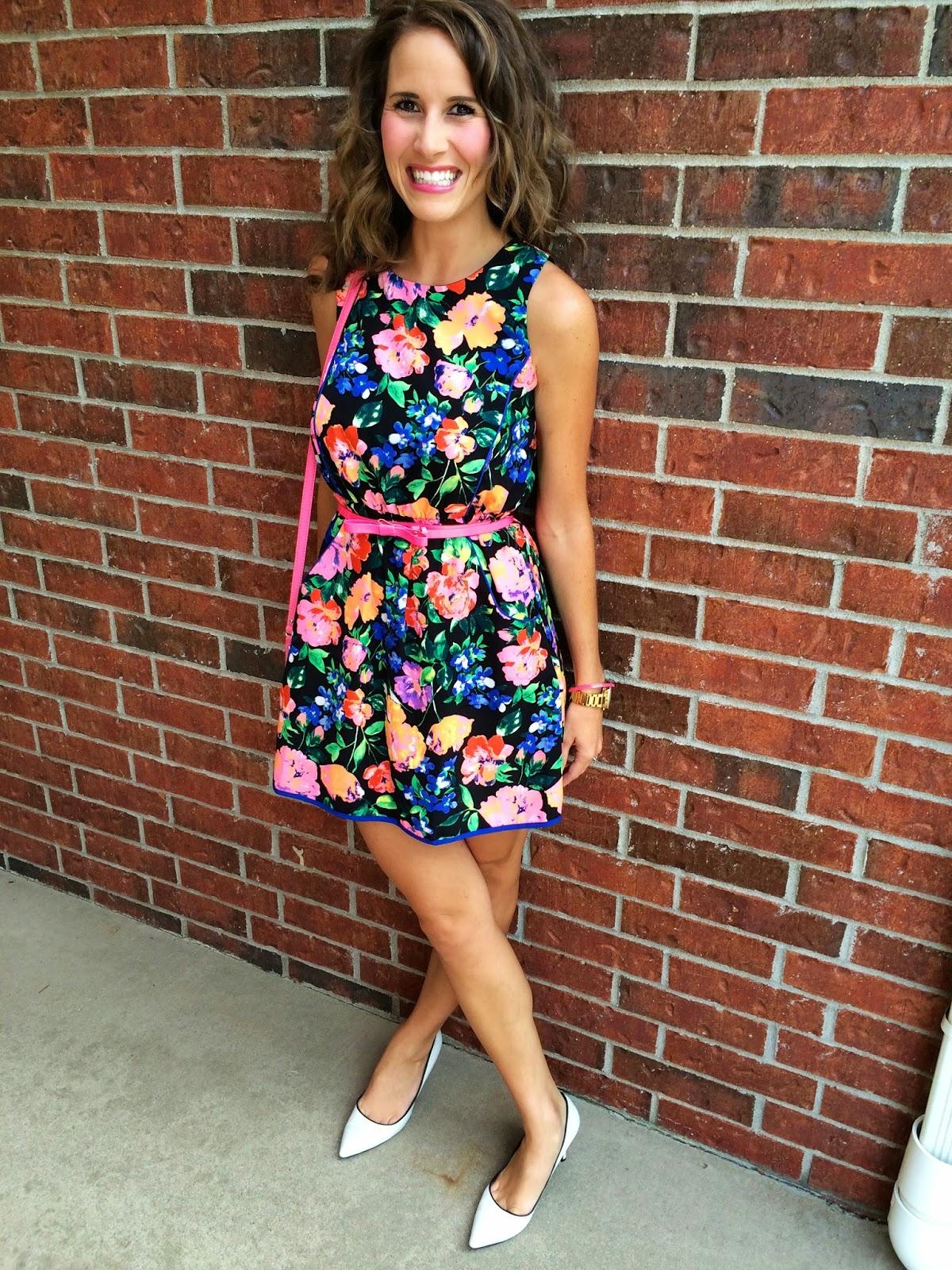 a9445666f9a Dress  TJ Maxx Belt  Kate Spade Earrings  Kate Spade Shoes  Steve Madden