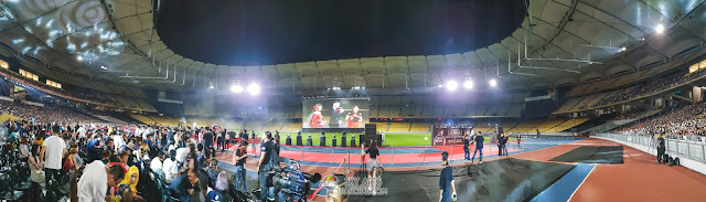 Panoramic photo of  National Stadium Bukit Jalil using Samsung Galaxy S9+
