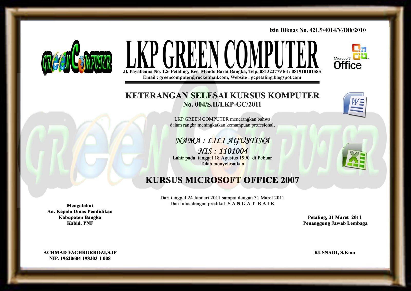 LKP GREEN COMPUTER Galery