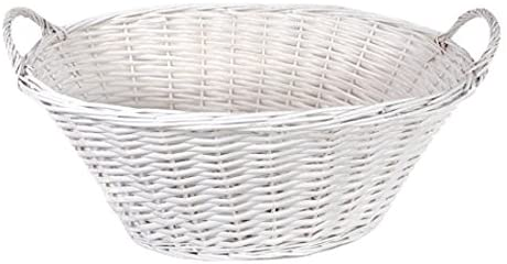 white willow oval laundry basket