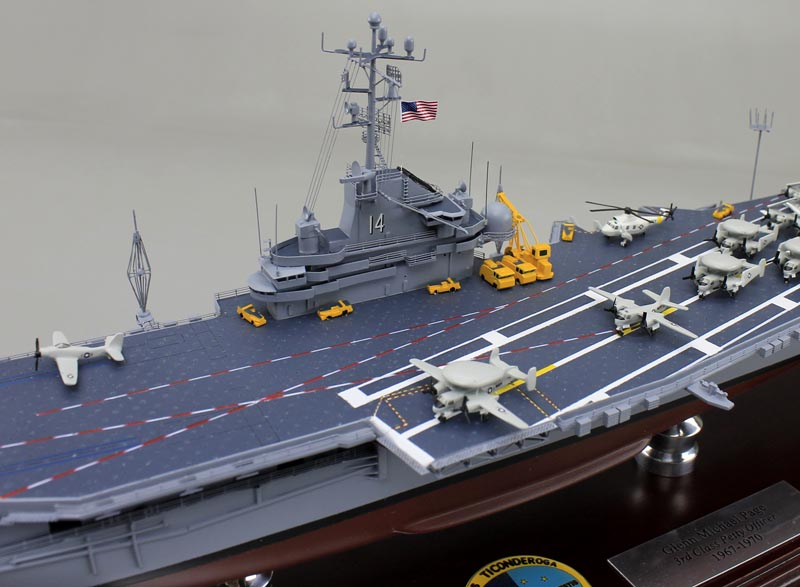 USS Ticonderoga, CVN 14 Aircraft Carrier Model | SD Model ...