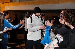 Llegada del Real Madrid a Sevilla