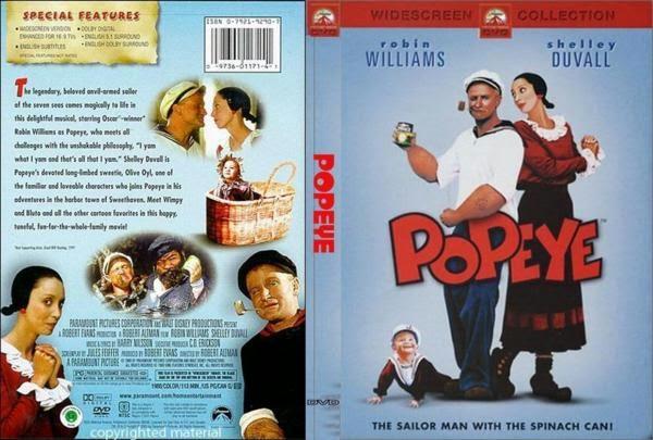 Popeye - O Filme DVD Capa