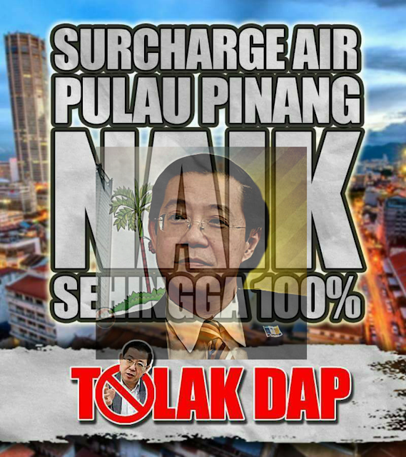 Surcaj  Untuk Tampung  Hutang  DAP Sebenarnya  Bukan  Kempen Jimat Air