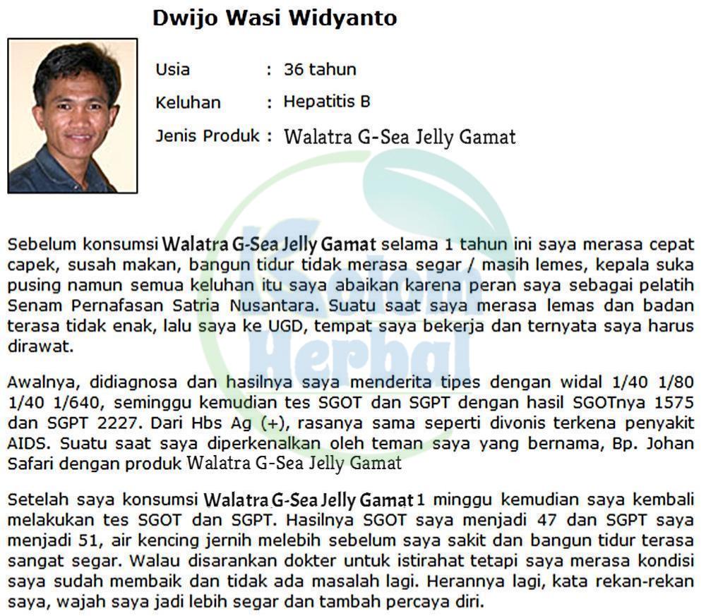Walatra G-Sea Jelly Gamat Emas