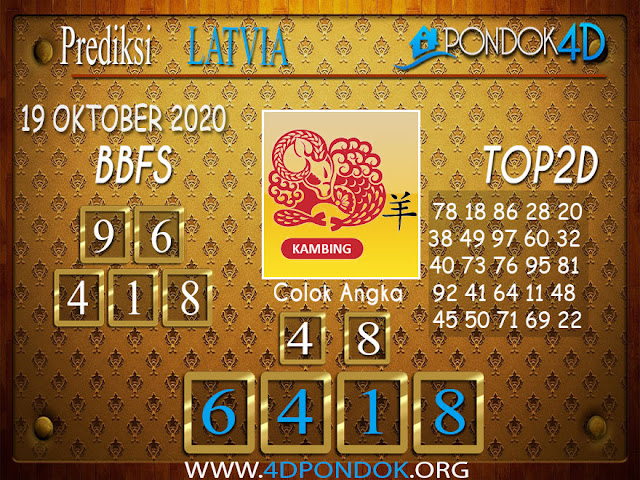 Prediksi Togel LATVIA PONDOK4D 19 OKTOBER 2020