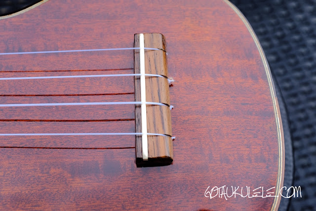 Eastman EU3S Soprano Ukulele bridge