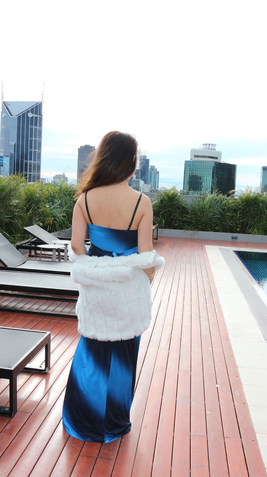 What to wear with Blue maxi dress