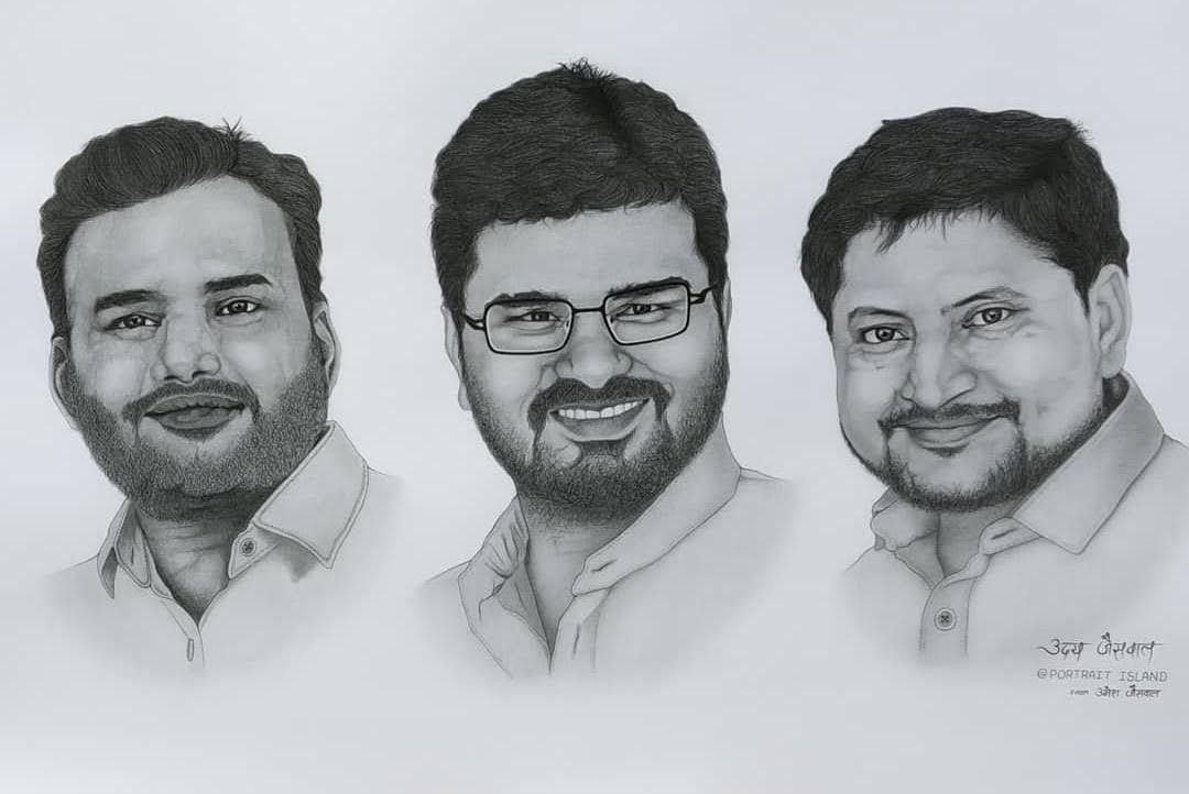 Realistic Group Photo Sketch