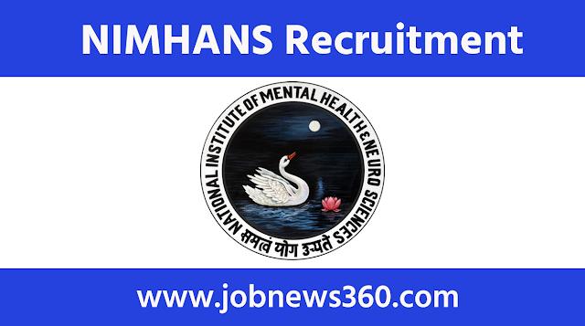 NIMHANS Recruitment 2021 for Nurse, Teacher, Scientific Officer & more