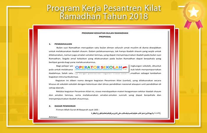 Program Pesantren Kilat Ramadhan Tahun 2018