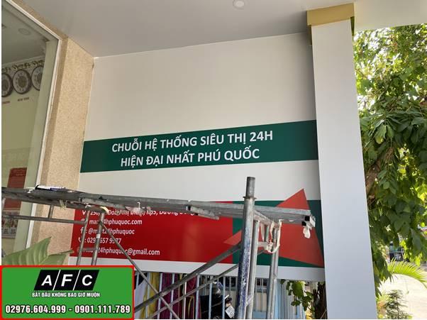Thi công biển quảng cáo Siêu thị mini Mart 24h Phú Quốc