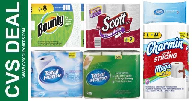Paper Towel & Toilet Paper CVS Deals