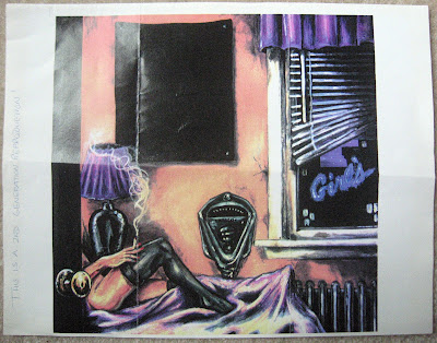 Pre-production painting of the original release of the album cover and artwork