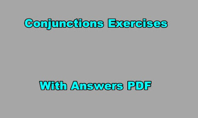 Conjunctions Exercises with Answers PDF