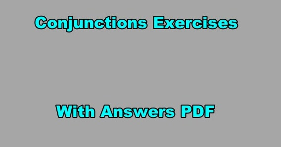 Exercours Conjunctions Exercises With Answers Pdf