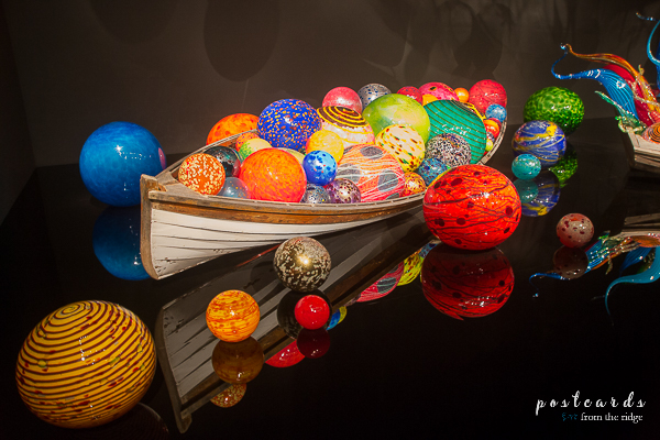 Chihuly museum glass orbs
