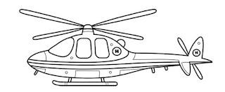 طريقة رسم الطائرة الهليكوبتر الحربية للاطفال