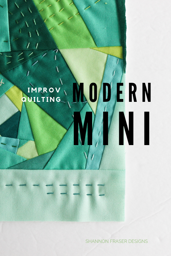 100 Days of sfD Minis - modern improv quilting | Q4 Finish-a-Long List of Projects | Shannon Fraser Designs #modernimprov #handquilted #miniquilt