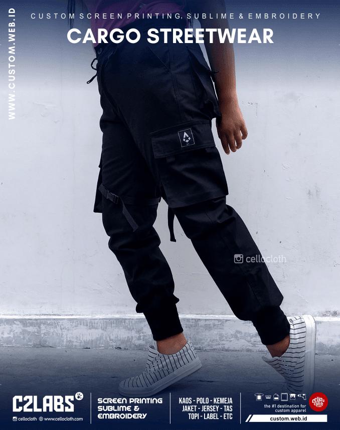 Celana Cargo Pant Street Wear Custom - Konveksi Yogyakarta