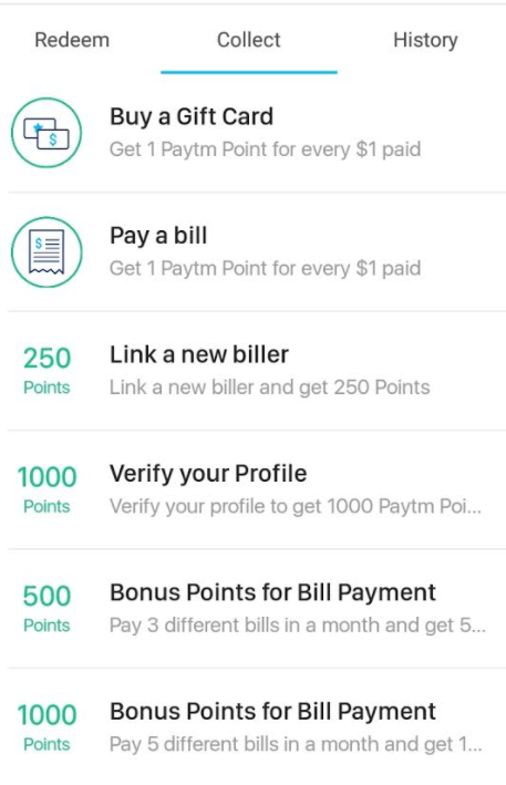 Canadian Rewards: Paytm: Pay bills with credit cards and earn bonus