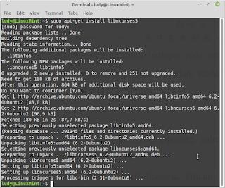 install library mysql linux