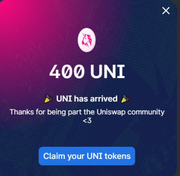 How to Claim Your Free UNI tokens worth of $1000