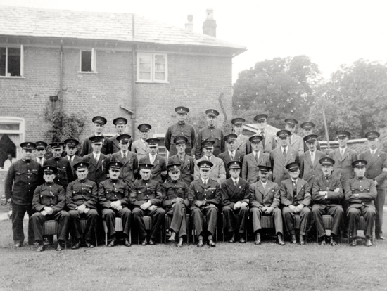 Photograph of North Mymms and Brookmans Park Special Constabulary 1940