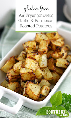 Garlic Parmesan Air Fryer Roasted Potatoes Recipe