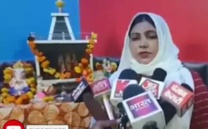 Muslim woman built a temple at home