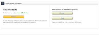 Contattare Amazon