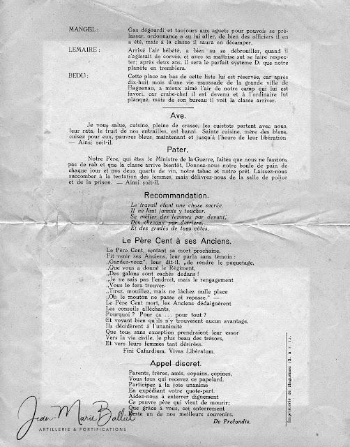23e RIF fairepart du Père Cent [1939]