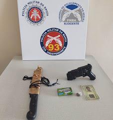 Policiais 2º PEL/PM detém um homem por ameaça em Itiruçu