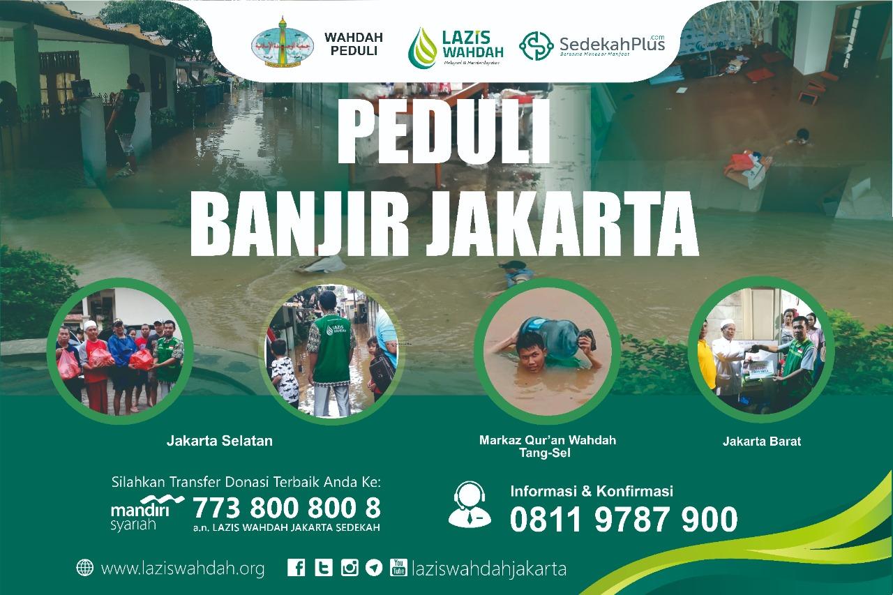 Lazis Wahdah Tunaikan Amanah Donatur di 3 Lokasi Pengungsian Korban Banjir