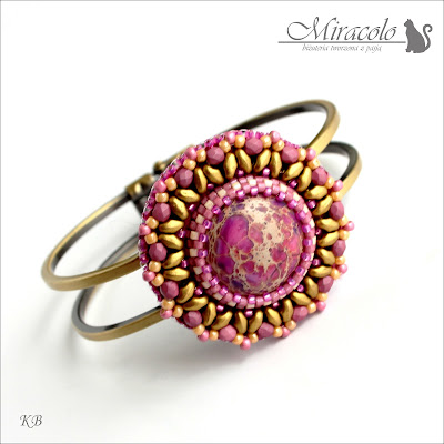 pink jasper bracelet, bransoletka z jaspisem różowym,miracolo