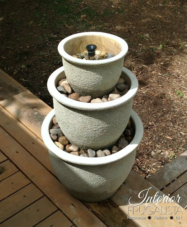 DIY Three Tier Plant Pot Water Fountain