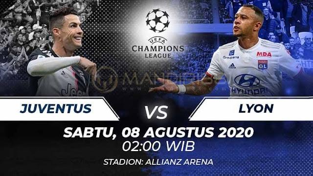 Prediksi Juventus Vs Olympique Lyon, Sabtu 08 Agustus 2020 Pukul 02.00 WIB @ SCTV