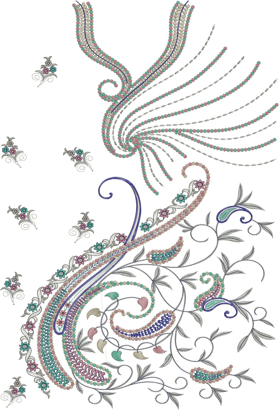 Embdesigntube dresses with full top embroidery design for Embroidery office design 7 5 full