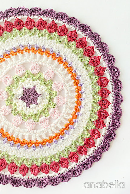 Crochet mandala by Anabelia Craft Design