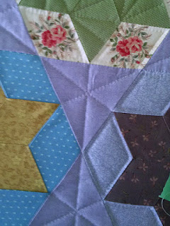 Candied Hexagons quilt: QuiltBee