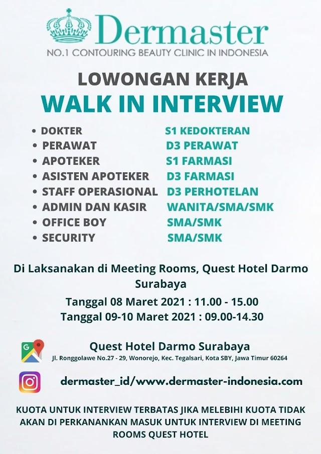Loker Dokter Dermaster Surabaya, Jawa Timur