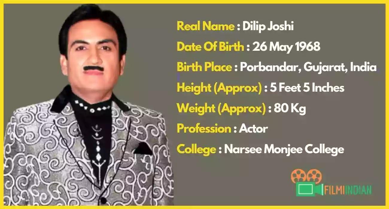 Dilip Joshi : Jethalal Gada : Best Biography (2020), Life Story, Profile