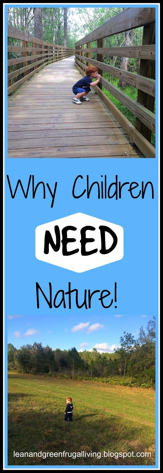 Why Children NEED Nature