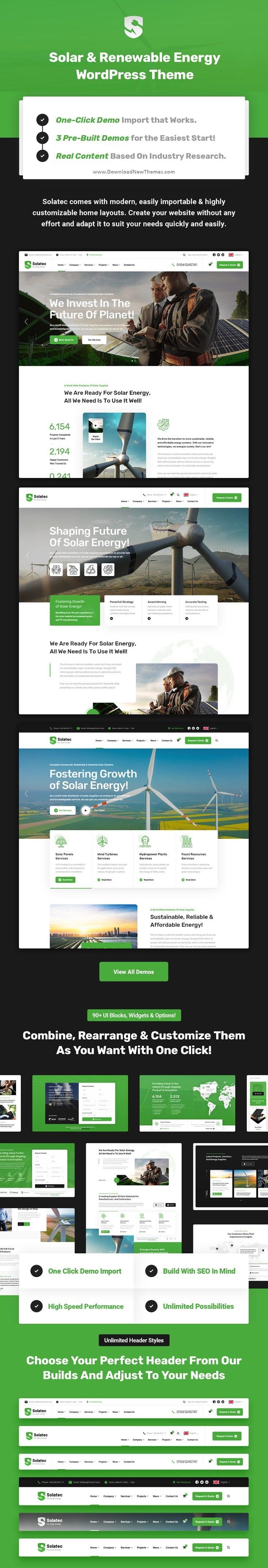 Ecology and Solar Energy WordPress Theme