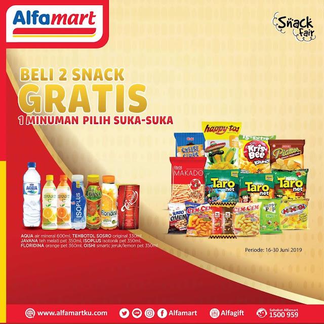 #Alfamart - #Promo Beli 2 Snack Gratis 1 Minuman Pilih Suka Suka (s.d 30 JUno 2019)