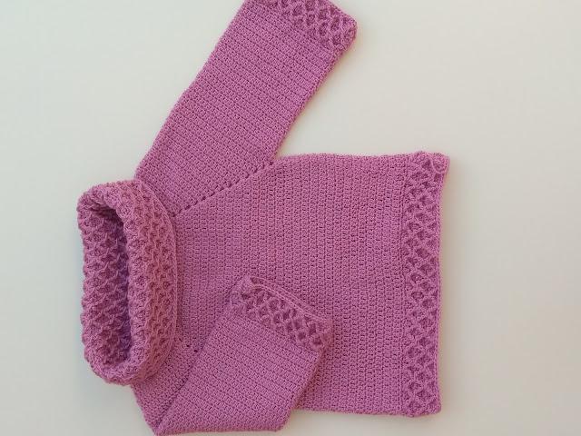 2- Crochet Imagen jarsey de cuello alto a juego con falda a crochet y ganchillo por Majovel Crochet paso a paso