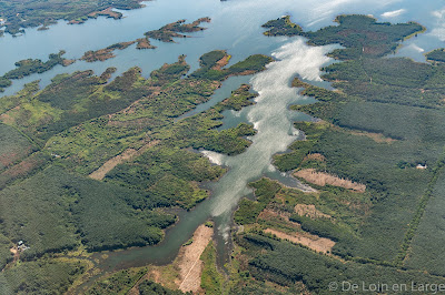 Delta de l'Irrawady vu d'avion