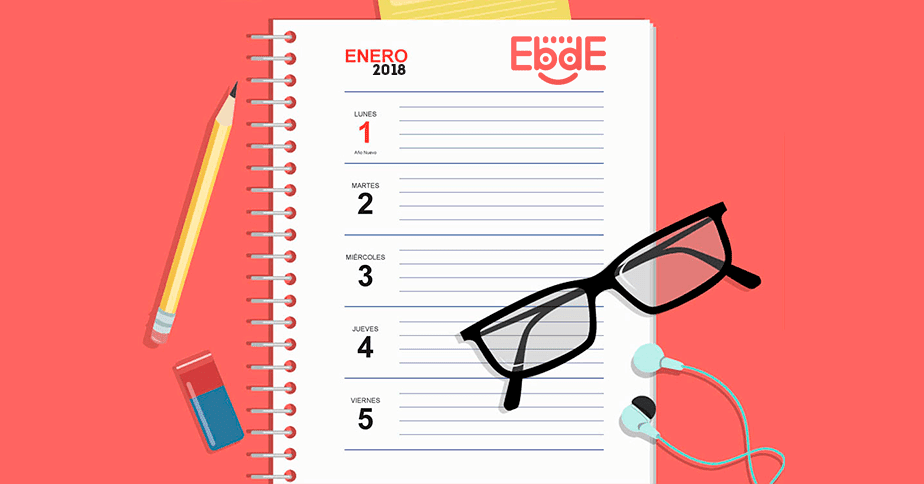 agenda semanal 2018 gratis